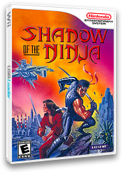 Shadow of the Ninja VC-NES cover (FFQE)