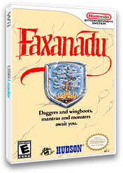 Faxanadu VC-NES cover (FFRE)