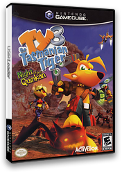 Ty the Tasmanian Tiger 3: Night of the Quinkan GameCube cover (GIZE52)
