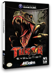 Turok Evolution GameCube cover (GTKE51)