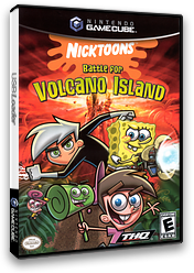 Nicktoons - Battle for Volcano Island GameCube cover (GU6E78)