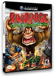 Rampage Total Destruction GameCube cover (GXNE5D)