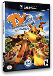 Ty the Tasmanian Tiger 2: Bush Rescue GameCube cover (GYTE69)