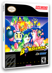 Super Bomberman 3 VC-SNES cover (JDBE)