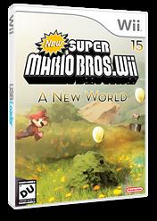 New Super Mario Bros Wii 15 A New World CUSTOM cover (NEWE01)