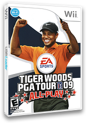 Tiger Woods PGA Tour 09 All-Play Wii cover (R9TE69)