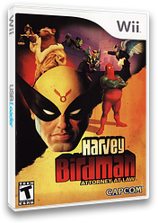 Harvey Birdman: Attorney at Law Wii cover (RGBE08)