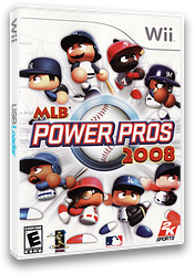 MLB Power Pros 2008 Wii cover (RL8E54)