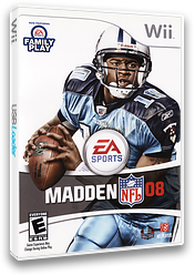 Madden NFL 08 Wii cover (RNFE69)