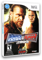 WWE SmackDown vs. Raw 2009 Wii cover (RR9E78)