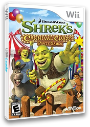 Shrek's Carnival Craze Party Games Wii cover (RRQE52)
