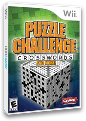 Puzzle Challenge: Crosswords and More! Wii cover (RXYE4Z)