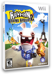 Rayman Raving Rabbids 2 Wii cover (RY2E41)