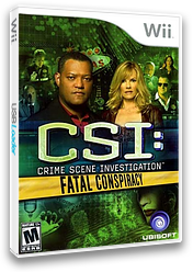 CSI: Fatal Conspiracy Wii cover (SCIE41)