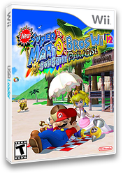 New Super Mario Bros Wii 12 Sunshine Paradise CUSTOM cover (SMSE01)