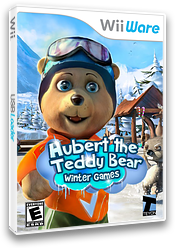 Hubert the Teddy Bear: Winter Games WiiWare cover (WHBE)