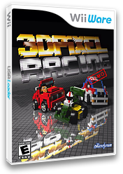 3D Pixel Racing Demo WiiWare cover (XIZE)