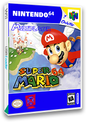 Super Mario 64 Multiplayer VC-N64 cover (NZXM)