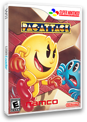 Pac-Attack VC-SNES cover (JBLE)
