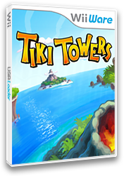 Tiki Towers WiiWare cover (WTIE)