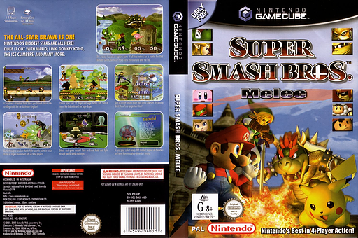 Super Smash Bros. Melee GameCube cover (GALP01)