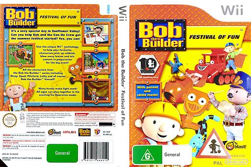 Bob the Builder: Festival of Fun Wii cover (R9BPMT)