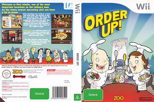 Order Up! Wii cover (ROXP7J)