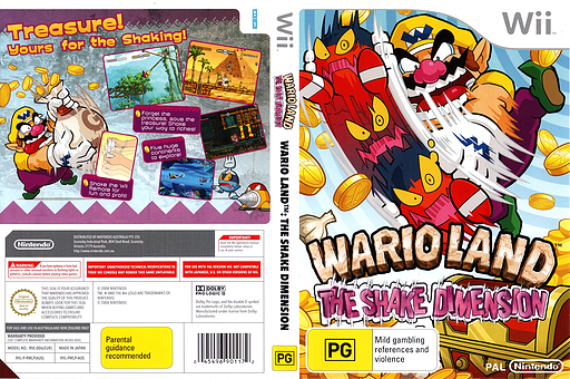 Wario Land: The Shake Dimension Wii cover (RWLP01)