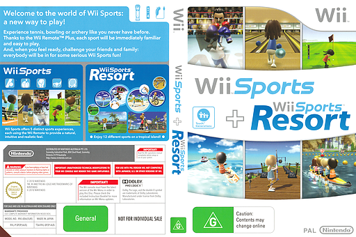Wii Sports + Wii Sports Resort Wii cover (SP2P01)