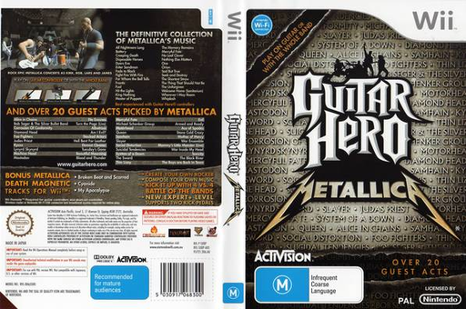 Guitar Hero: Metallica Wii cover (SXBP52)