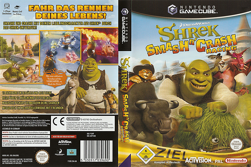 Shrek Smash n' Crash Racing GameCube cover (G4IP52)