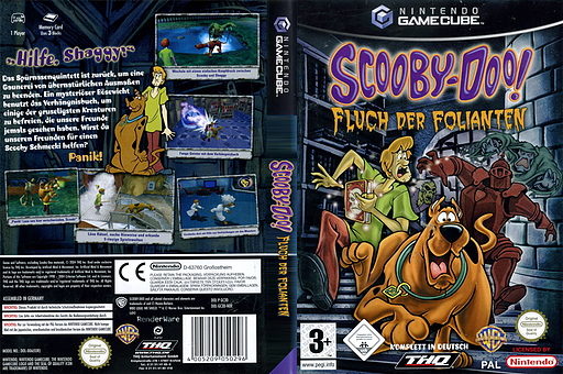 Scooby-Doo!: Fluch der Folianten GameCube cover (GC3D78)
