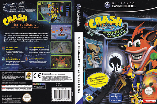 Crash Bandicoot: Der Zorn Des Cortex GameCube cover (GCBP7D)