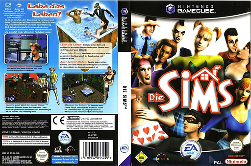 Die Sims GameCube cover (GCIP69)