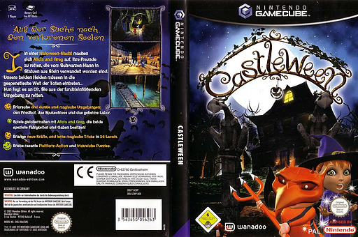 Castleween GameCube cover (GCWP6X)