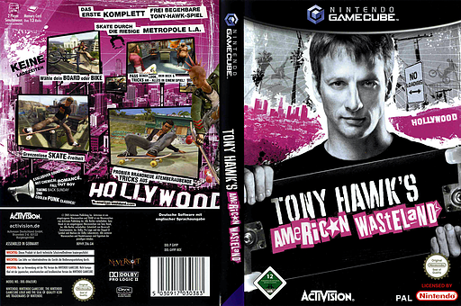 Tony Hawk's American Wasteland GameCube cover (GH9P52)