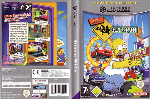 The Simpsons: Hit & Run GameCube cover (GHQP7D)
