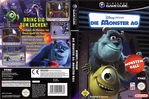 Die Monster AG : Monster Ball GameCube cover (GMNP78)