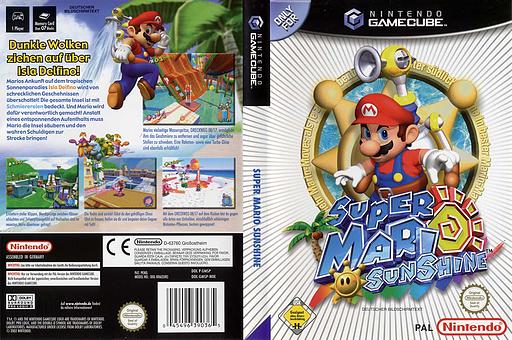 Super Mario Sunshine GameCube cover (GMSP01)