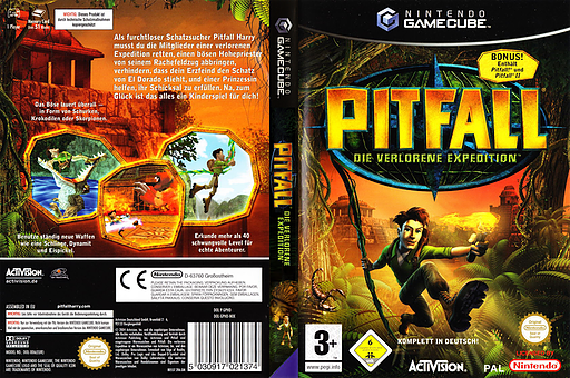 Pitfall: Die verlorene Expedition GameCube cover (GPHD52)