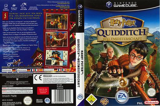 Harry Potter:Quidditch - Weltmeisterschaft GameCube cover (GQWX69)