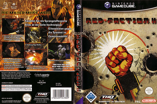 Red Faction II GameCube cover (GRFD78)