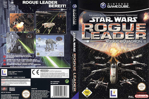 Star Wars Rogue Leader:Rogue Squadron II GameCube cover (GSWD64)