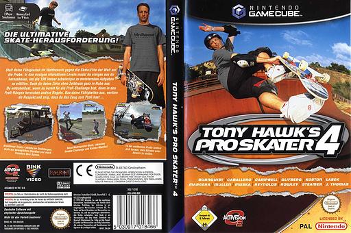 Tony Hawk's Pro Skater 4 GameCube cover (GT4D52)