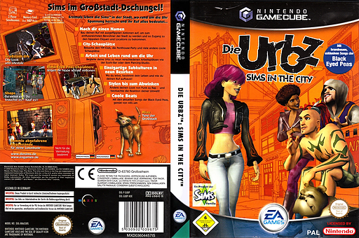 Die Urbz: Sims in the City GameCube cover (GUBP69)