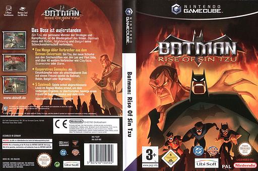 Batman Rise of Sin Tzu GameCube cover (GUZP41)