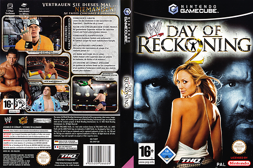 WWE Day of Reckoning 2 GameCube cover (GW2P78)