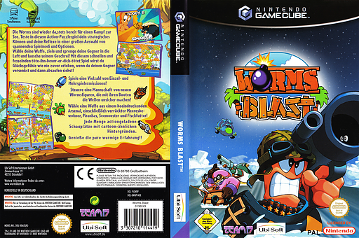 Worms Blast GameCube cover (GWBP41)