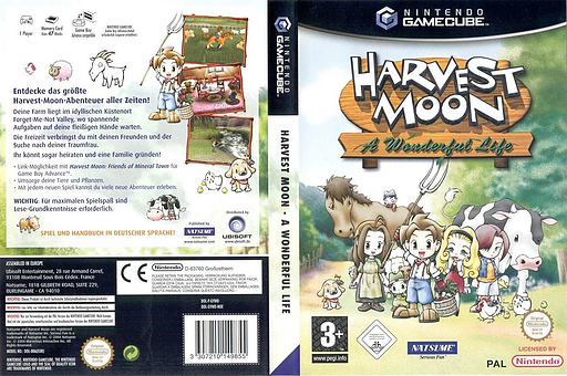 Harvest Moon: A Wonderful Life GameCube cover (GYWDE9)