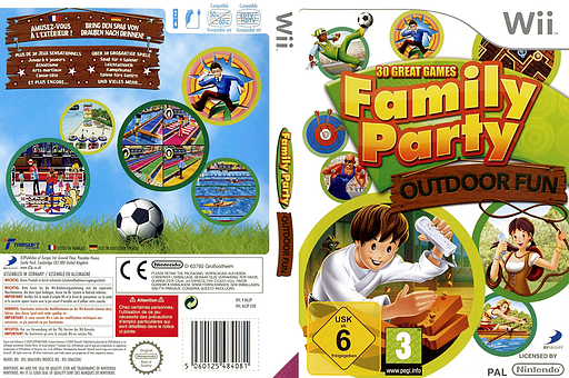 Family Party: 30 Great Games Outdoor Fun Wii cover (R63PG9)